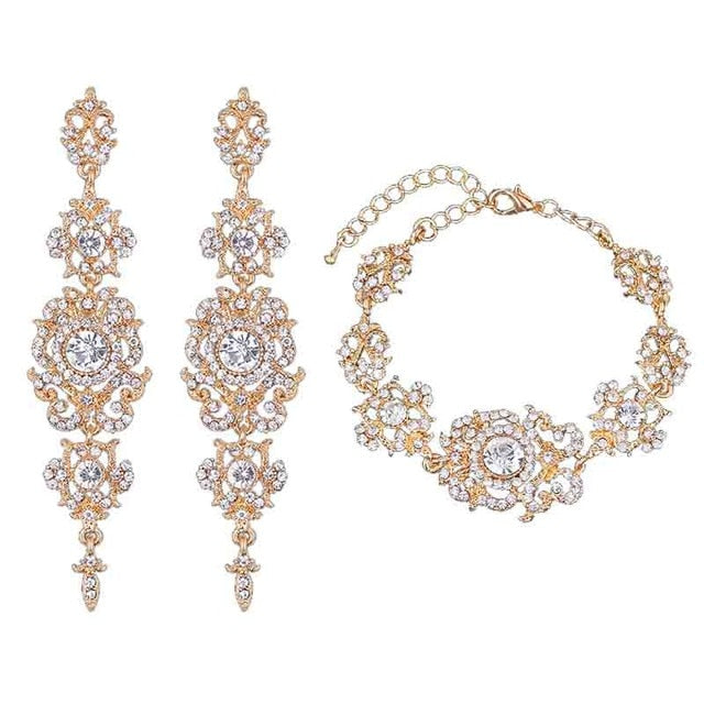 Crystal Rhinestone Wedding Jewelry Sets