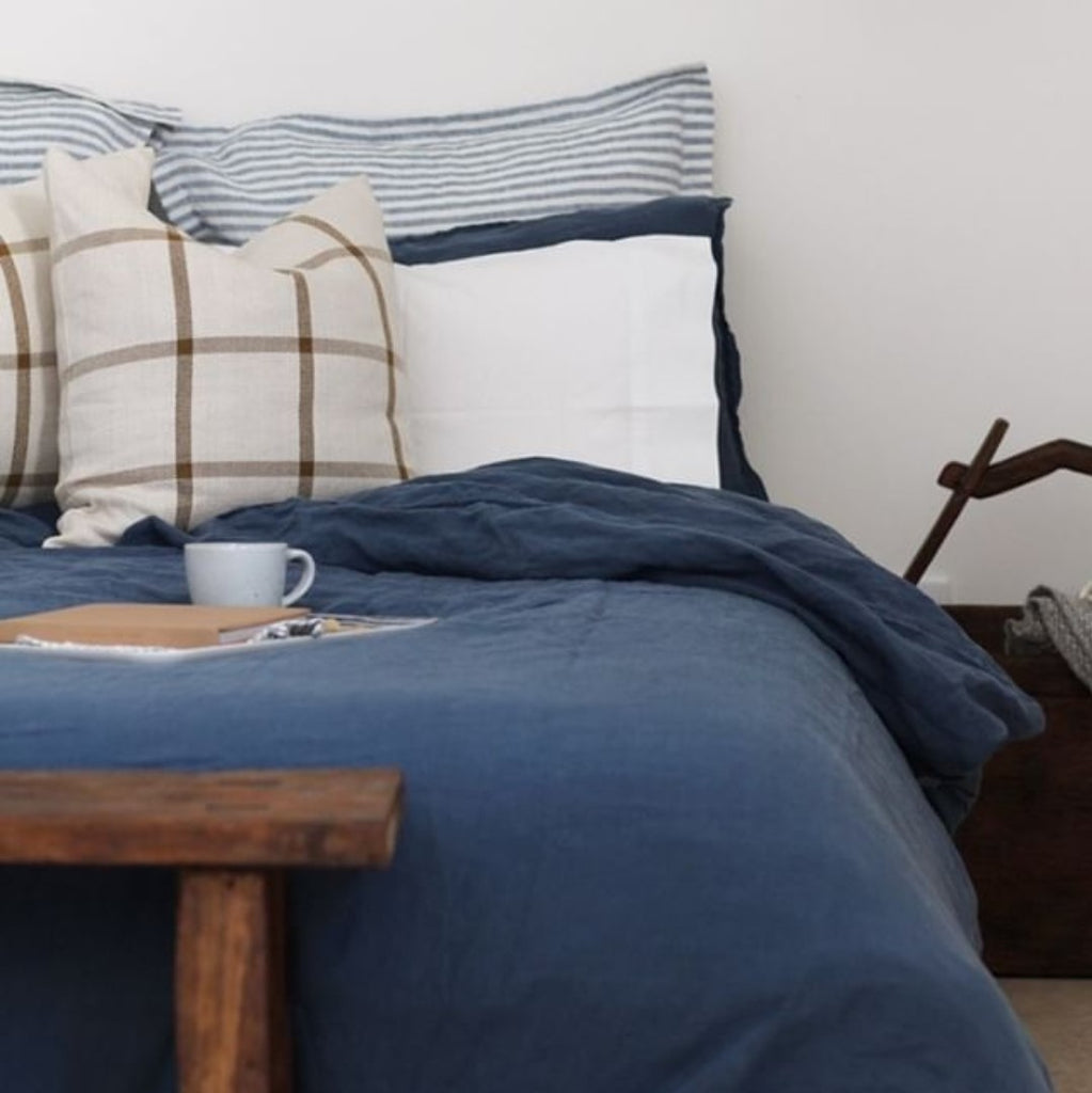 Linen Pillowcases | French Blue
