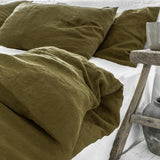 Olive Linen Pillowcases | Oeko-Tex® certified | Pre Order