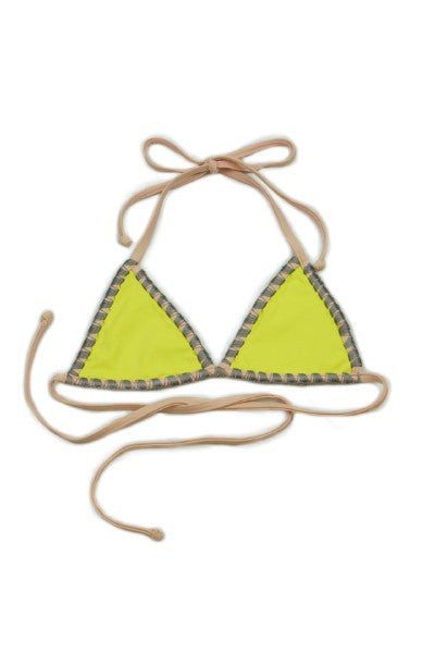 Shell Stitch Citron Bikini Top