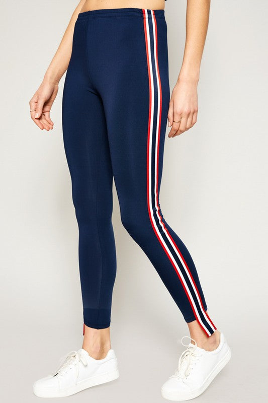 Side Stripe Legging Pants