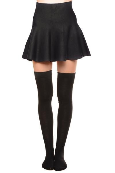 Thigh High Black Socks