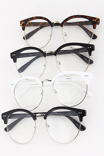 Top Frame Clear Glasses - Boldersides