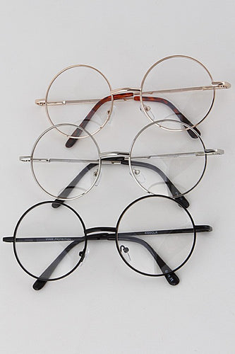 Clear Circle Frame Glasses - Boldersides