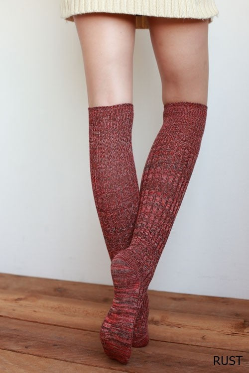 Mix Color Over The Knee Socks