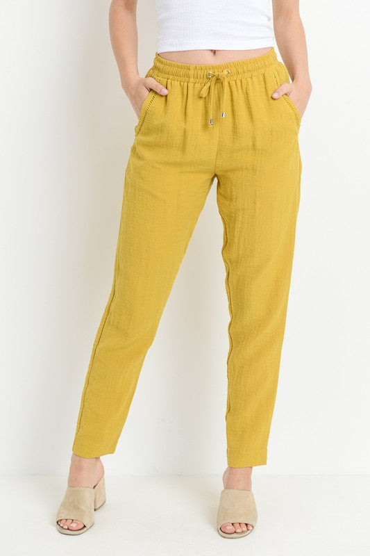 High Waist Drawstring Pants