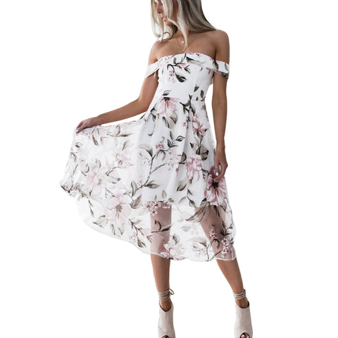 Soft Floral Pattern - White & Beautiful Dress