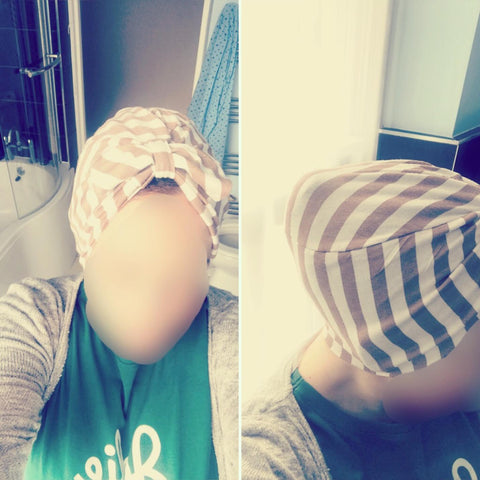 White & brown turban