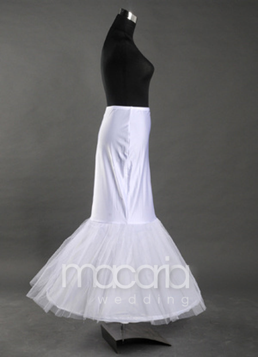 Two-Tier White Mermaid And Trumpet Bridal Wedding Petticoat - Macaria Wedding