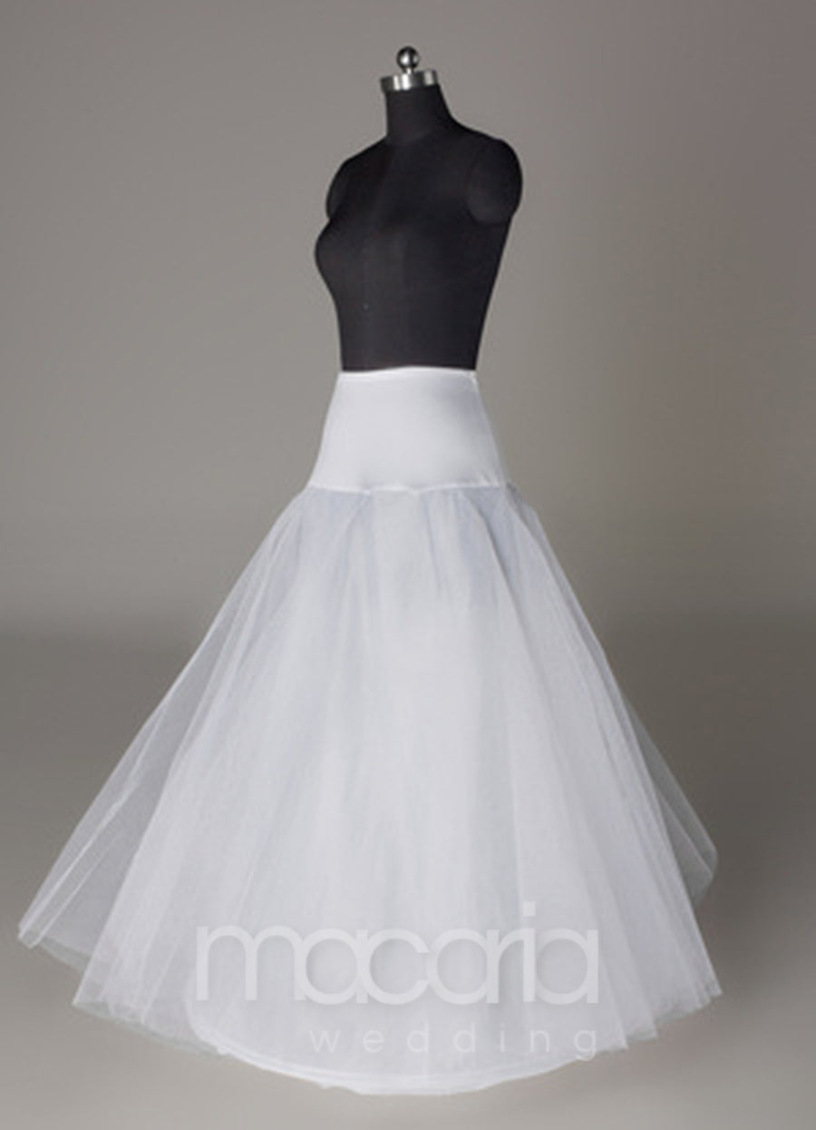 Two-Tier White Lycra Tulle Bridal Wedding Petticoat - Macaria Wedding