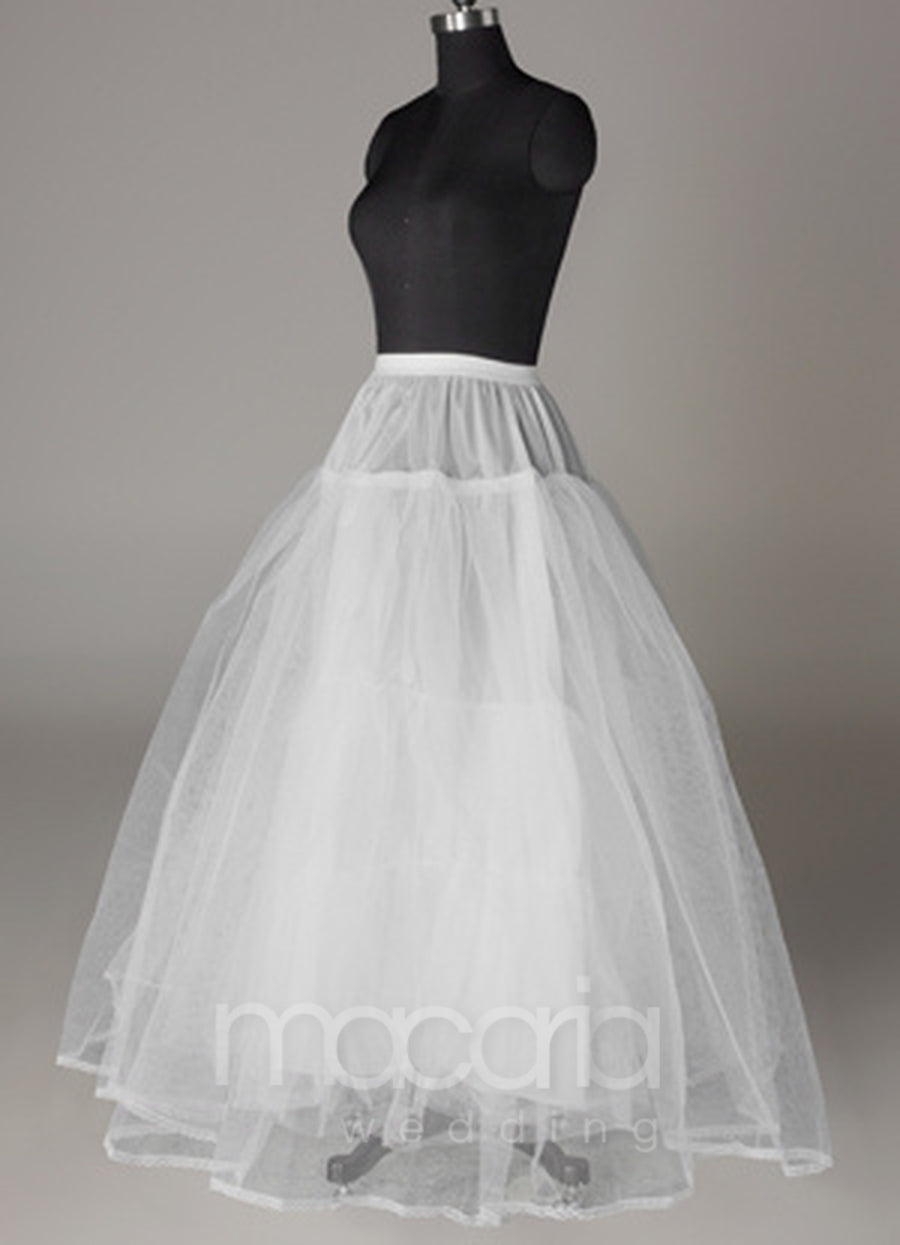 Three-Tier Tulle Ball Gown Bridal Petticoat - Macaria Wedding