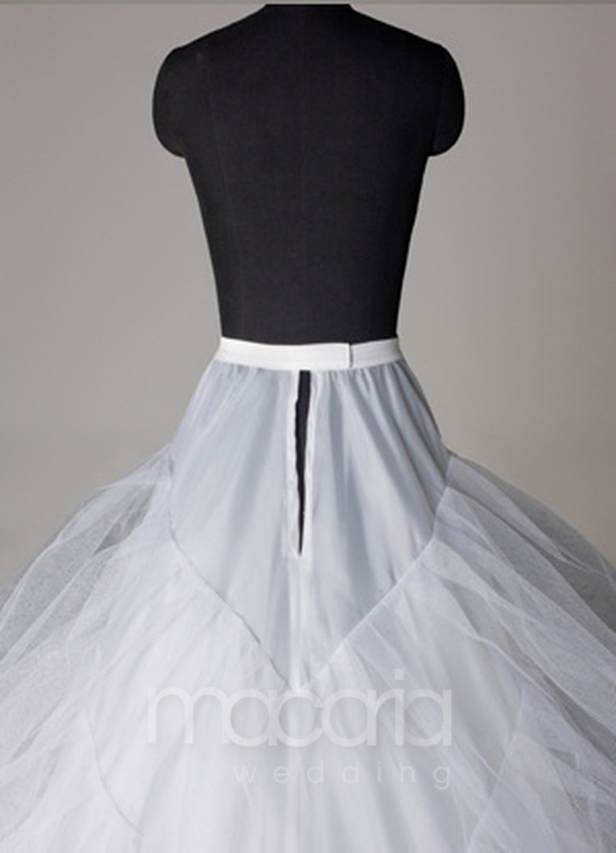 Three-Tier Tulle Ball Gown Bridal Wedding Petticoat - Macaria Wedding