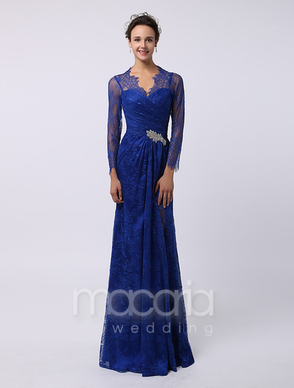 0e30abb1e91 Evening Dresses - V-Neck Illusion Sweetheart A-Line