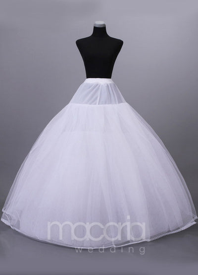 Eight-Tier Net Full Gown Bridal Petticoat - Macaria Wedding
