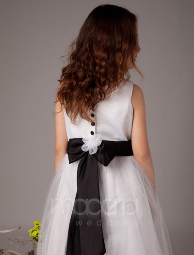 ad311bb6ba2 Flower Girl Dresses - Romantic Flower Applique Satin