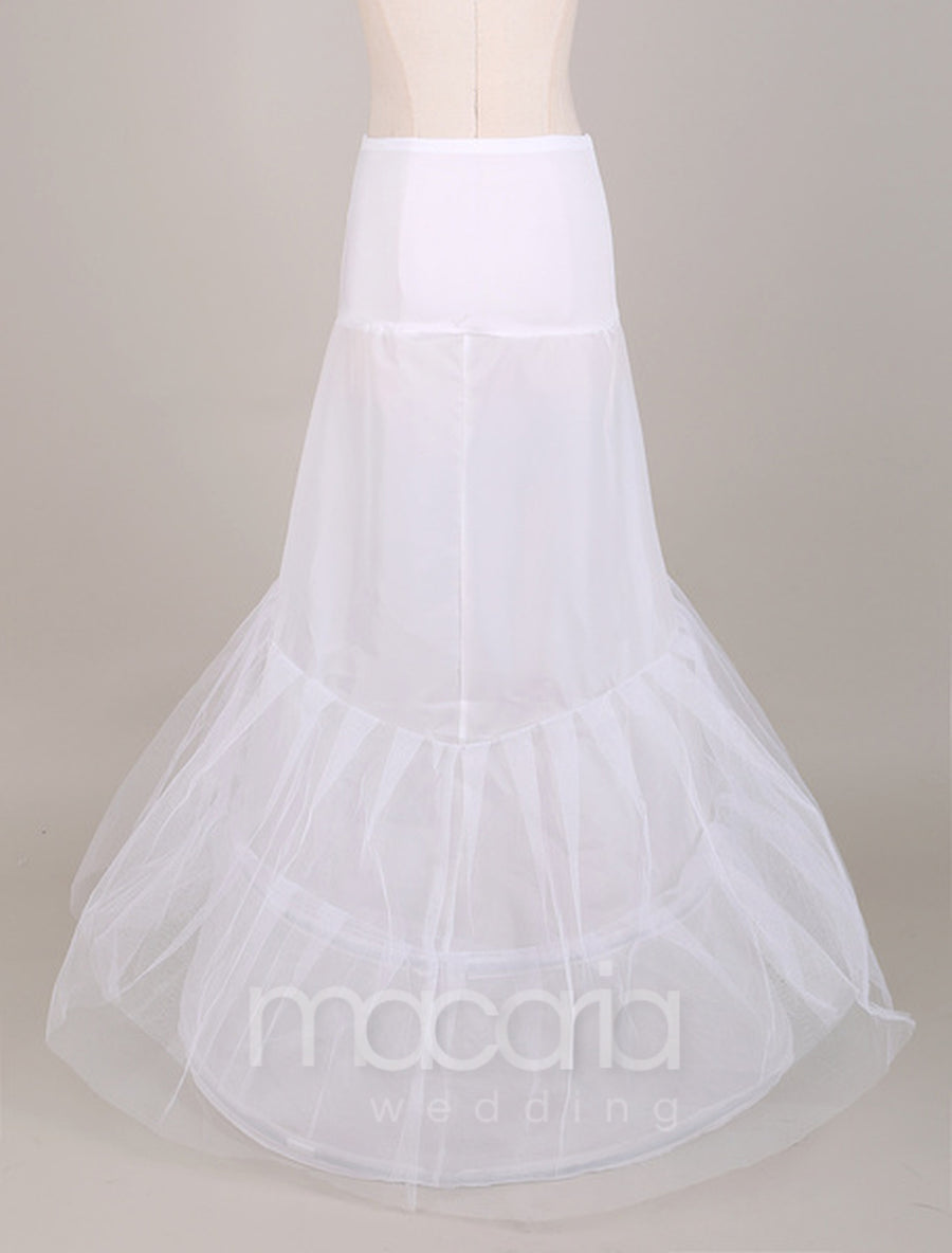 Two-Tier Trumpet Elastic Waist Bridal Wedding Petticoat