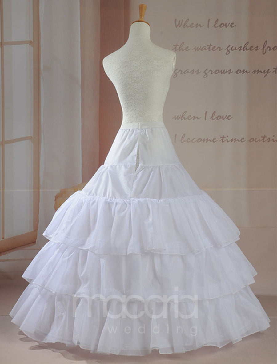 Three-Tier Layered Ball Gown Bridal Wedding Petticoat