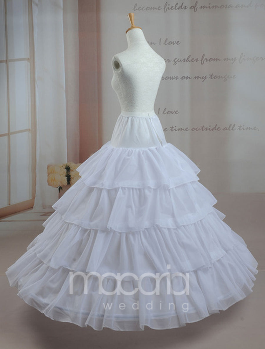 Four-Tier Ball Gown Layered Bridal Wedding Petticoat - Macaria Wedding