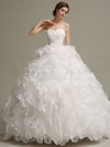 Pleated Tulle Ruffles Wedding Dress - Macaria Wedding