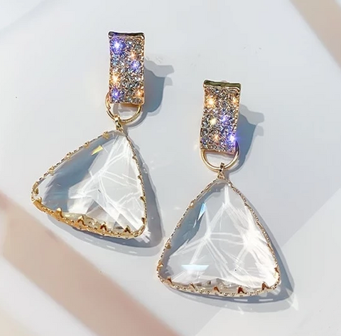 Chic Crystal Drop Earrings