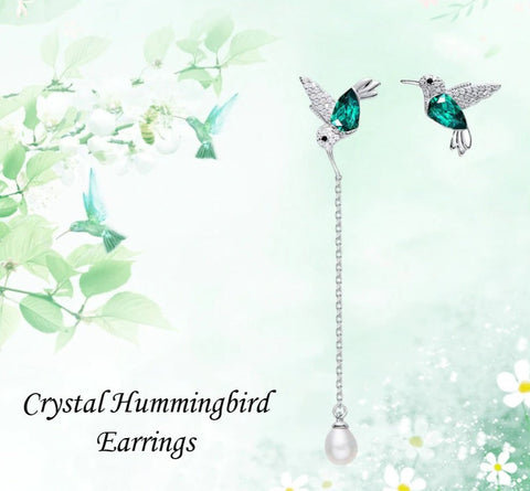 Crystal Hummingbird Earrings