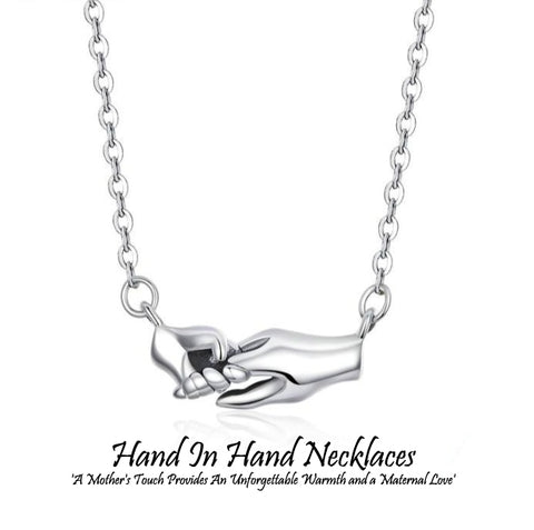Hand In Hand Silver Necklaces