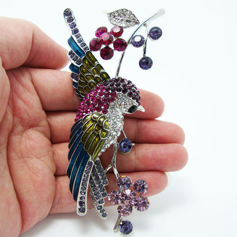Beautiful Crystal Swallow Brooch