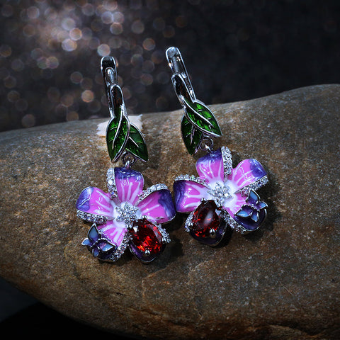 Elegant Butterfly Petal Drop Earrings