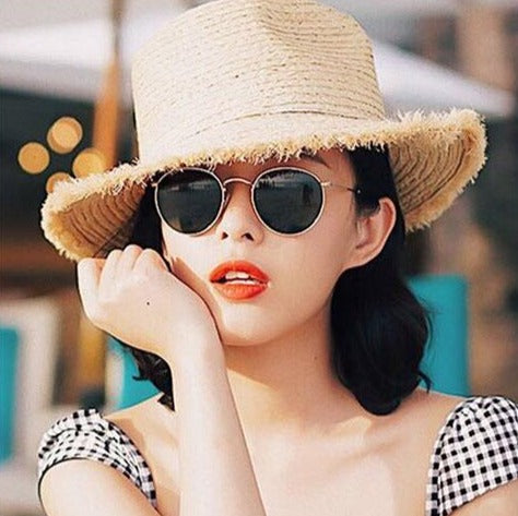 Classic Ladies Round Framed Sunglasses