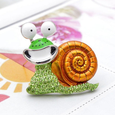 Adorable Snail Brooches