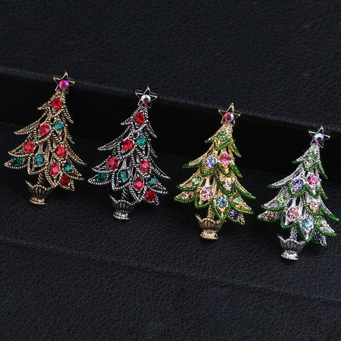 Vintage Christmas Tree Brooches
