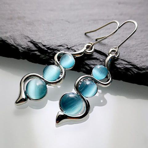 Blue Moon Swirl Earrings