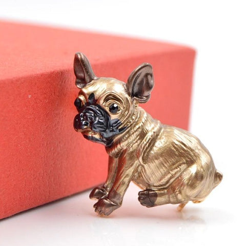 Cute French Bulldog Brooches