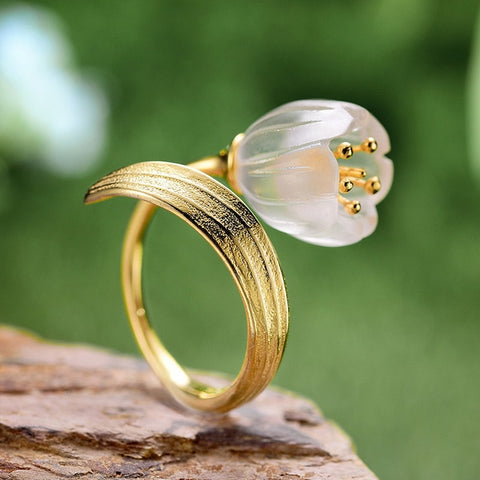 Lily of the Valley Flower Rings