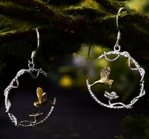 Exquisite Hummingbird Earrings