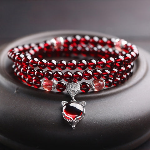 Red Garnet Gemstone Bracelets