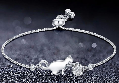 Playful Cat Charm Bracelet