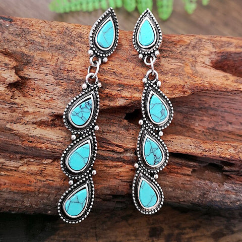 Thai Silver Tear Drop Earrings