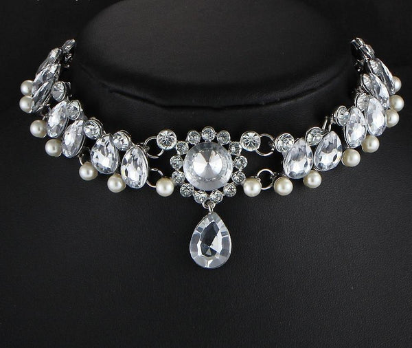 Water Drop Crystal Beads Chokers