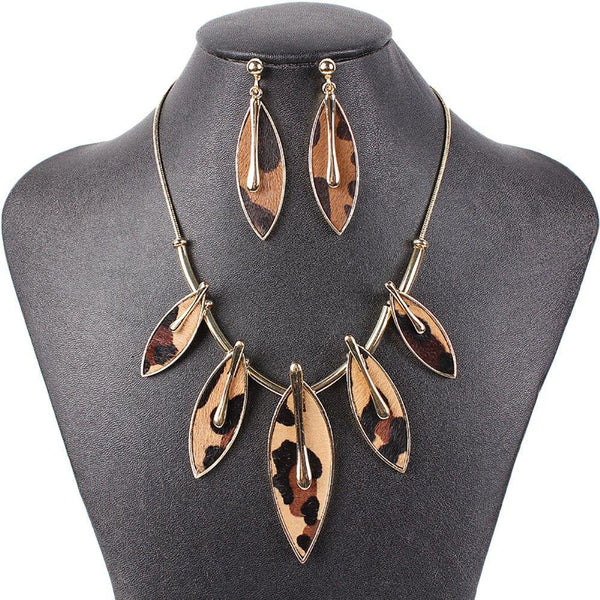 Shield Leaf Jewelry Sets