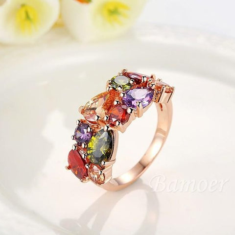 Rose Gold Colour Jewel Rings