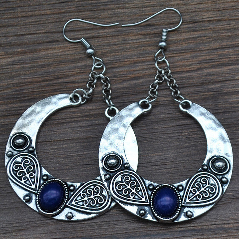 Tibetan Silver Bohemian Earrings