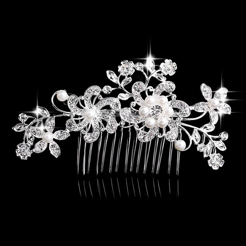 Flower Rhinestone Hair Slides