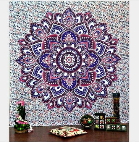 Mixed Purple Mandala Tapestry