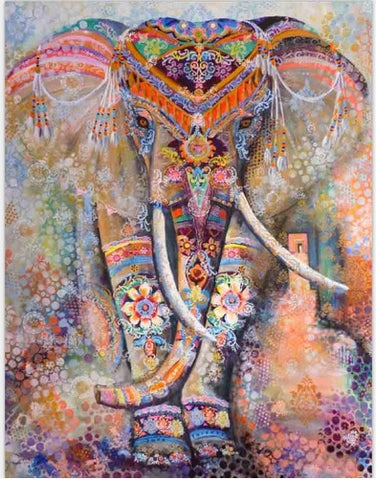 Stunning Ceremonial Elephant Tapestry