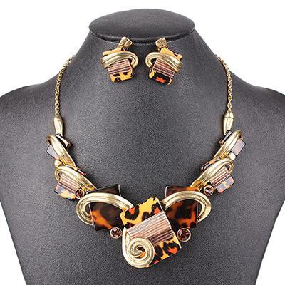 Abstract Art Jewelry Set