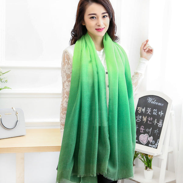 Long Ombre Scarves