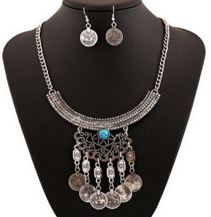 Bohemian Gypsy Coin Jewelry Set