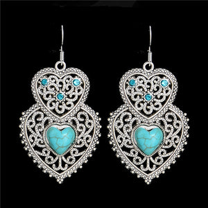 Tibetan Heart Earrings