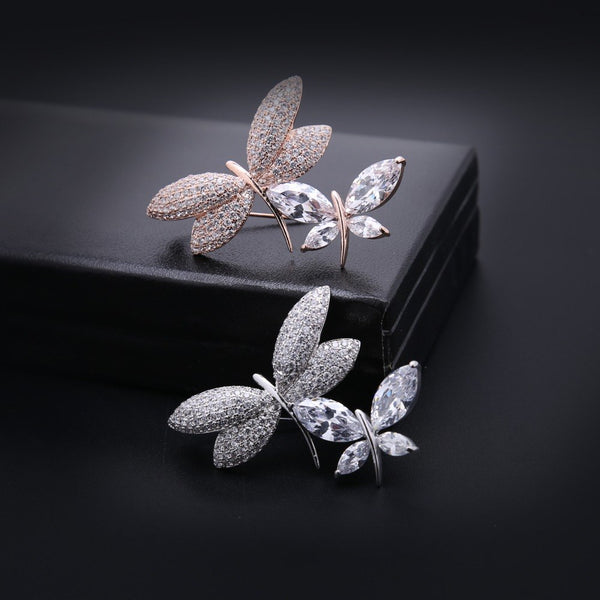 Quality Crystal Dragonfly Brooches